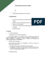 PLANIFICACIÓN DE SALIDA DE CAMPO