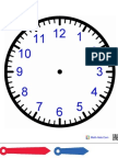 Clock Cutout for Podcast Activity
