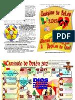 Caminito de Belén 2012. Hoja Básica Letter
