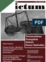 Jurnal Dictum Edisi 1 Oktober 2012 - Permasalahan Penegakan Hukum Kasus Narkotika