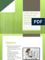 Ciclo de vida proyecto de soporte técnico