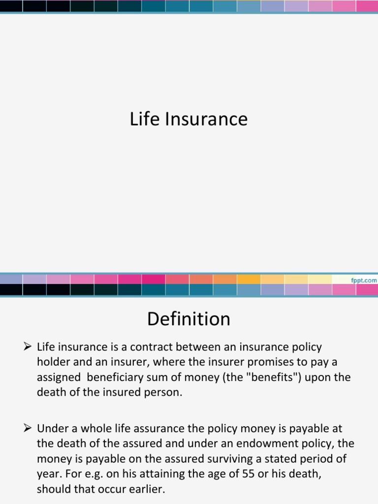 lecture- 6 life insurance | life insurance | insurance