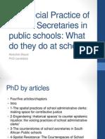 The Social Practice of School Secretaries in Public