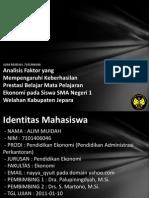 Analisis Faktor Yang Mempengar 7101406046