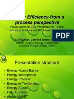 Energy Efficiency-From a Process Perspective