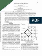 Field Measured Two Way Slab Deflections