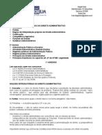 Direito Administrativo - 01ª Aula - 23.10.2008