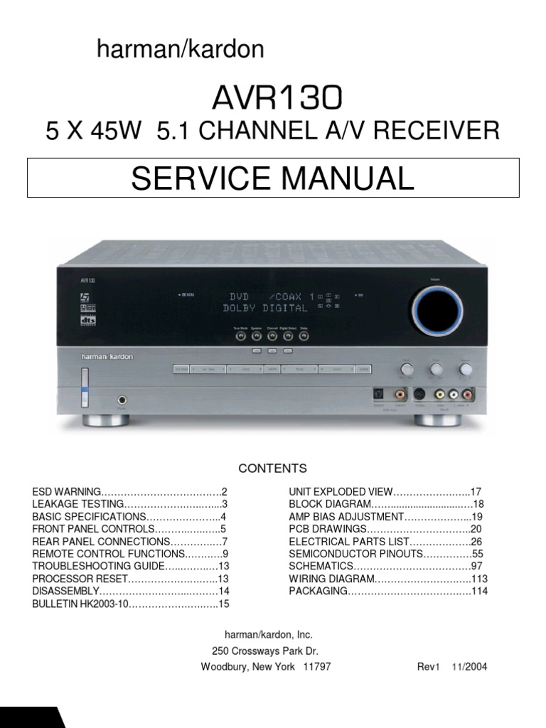 Harman kardon avr 155 инструкция