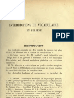 Interdiction de vocabulaire en berbère - E.Destaing