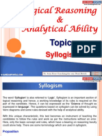 Logical Reasoning and Analytical Ability Syllogism