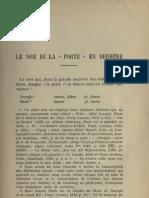 Le nom de la porte en berbère - André Basset