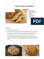 Schnelles Brot mit Joghurt und Möhren