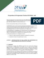 Doc Proposition de Programme Actions FICOPAM AAI