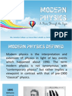 Modern Physics Timeline