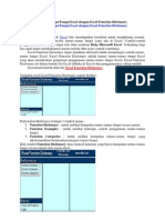 Belajar Fungsi-Fungsi Excel dengan Excel Function Dictionary