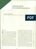 Efectos de Institucionalización de la capacitacion en el desempeño organizacional