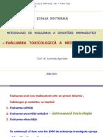 Evaluarea Toxicologica a Medicamentului