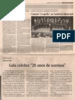 Gala 20 Anos de Sonrrisos. a Voz de Tras Os Montes. Noviembre 2007