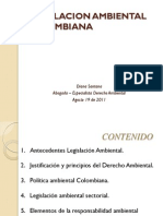 Legislacion Ambiental Colombiana Aciem Tunja Agosto 2011
