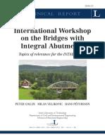 International Workshop Bridges Integral Abutments LTU-TR-0614-SE