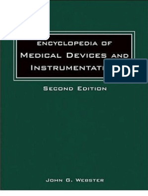 Encyclopedia of Medical Devices and Instrumentation - Vol  1