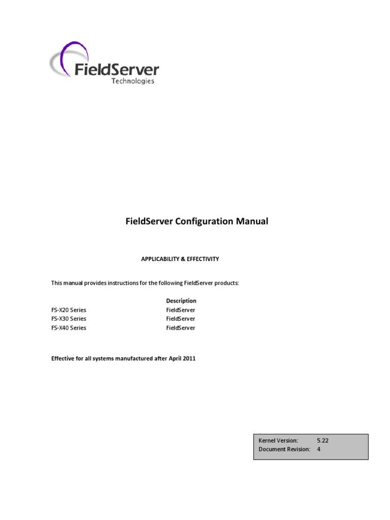 fieldserver configuration manual port computer networking rh scribd com