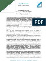 Declaração de Voto - Orçamento de Estado 2013 (votação final global) | José Ribeiro e Castro - Assembleia da República, 27-nov-2012