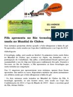 Fifa apresenta no Rio tecnologia que será usada no Mundial de Clubes