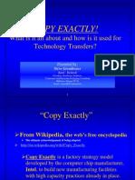 Copy Exactly Procedures