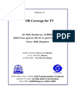 Handouts on OB Coverage for TV