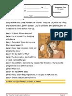Teste Inglês 5º Ano