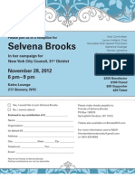 Selvena Brooks Reception Invite