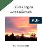 Pikes Peak Region Sunrise/Sunsets