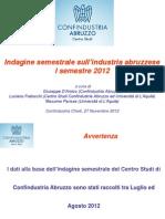 CONFINDUSTRIA ABRUZZO RELAZIONE SEMESTRALE 2012