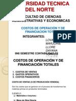 Costos de Operacion y de Financiacion