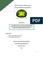 Influencia de La Cultura Organizacional en La Efectividad de Los Trabajadores de La SBH