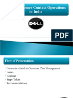 Dell's Customer Contact Centres in India
