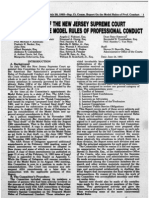 The Debevoise Committee Report - Report of the New Jersey Supreme Court Committee on the Model Rules of Professional Conduct