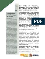 2012-11-27 Noticia en prensa solicitud COFAV y SPPLB pago parte paga extra