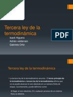 Tercera ley de la termodinámica