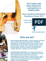 Arwen Jackson and Jacklyn Kammerer - Parent Lecture - The Toddler With Down Syndrome; A Perspective on Feeding - English