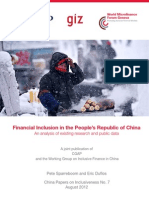 Financial Inclusion in China