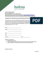 Altadena Visioning committee application