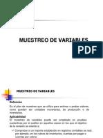 Muestreo de Variables y Otros(IV)