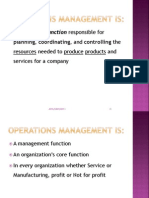 Introduction to Operations Mgmt