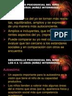 DESARROLLO PSICOSOCIAL DEL NIÑO  LOS 6 A 12