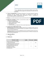 Plan de Auditorias 01 2012