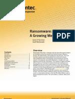 Ransomware A Growing Menace