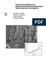 Comprehensive Database of Diameter Based Biomass Regressions for North American Tree Species