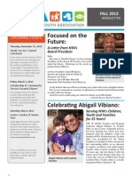 NYA Newsletter Fall 2012